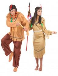 Klassiek beige indianen duo kostuums