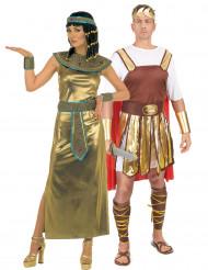 Cleopatra en Romeinse keizer koppel kostuums
