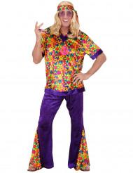 Bloemrijk jaren 60 hippie pak voor mannen