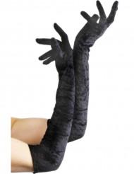 Lange zwarte hanschoenen