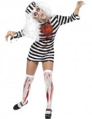 Zombie vrouw gevangene kostuum