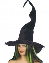 Grote zwarte heksenhoed voor dames