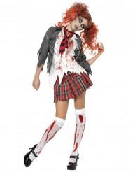 Zombie schoolmeisje kostuum Halloween outfit