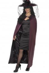 Omkeerbare cape paars of zwart  voor volwassenen Halloween kleding