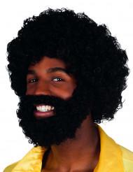 Pruik met baard voor volwassenen