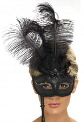 Venetiaans masker met veren voor volwassenen