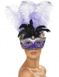 Venetiaans masker met grote veren