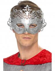 Metal kleurige venetiaanse masker voor volwassen