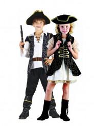 Goudkleurige piraten duo kostuums voor kinderen