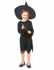 Zwart heksenkostuum voor meisjes