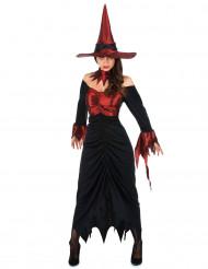 Rood heksenkostuum voor vrouwen