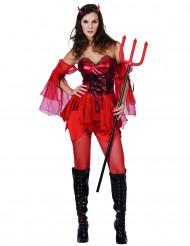 Duivel kostuum voor dames Halloween outfit