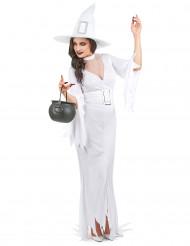 Wit heksenkostuum voor vrouwen