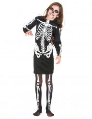 Zwart skelettenkostuum voor meisjes