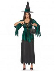 Groene heks kostuum voor vrouwen
