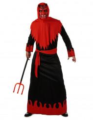 Zwart met rood duivel kostuum voor heren