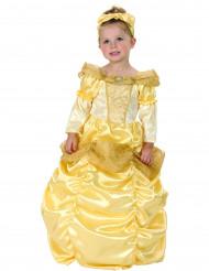 Goudkleurige prinsessen kostuum voor meiden