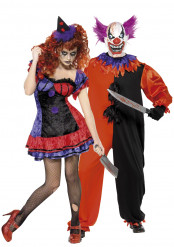 Angstaanjagend Halloween clowns