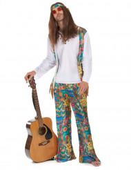 Jaren 60 psychedelisch hippie kostuum voor heren