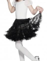 Zwart doorschijnend rok voor meisjes