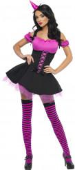 Sexy roze heksen kostuum voor Halloween