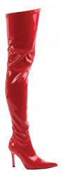 Rode knielaarzen voor dames Halloween artikel