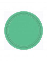 Set 8 groenen borden