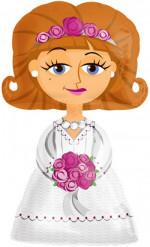 Ballon van bruid op trouwdag