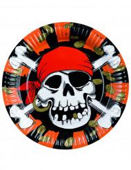Set van 8 wegwerp borden Piraat