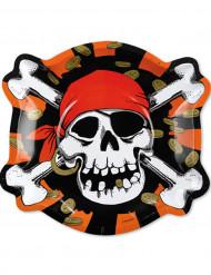 6 Piraten bordjes