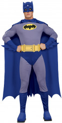 Blauw en paars Batman™ pak voor heren