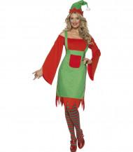 Verkleedkostuum Elf voor dames Kerst