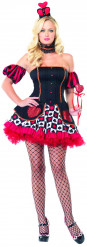 Wonderland koningin kostuum voor vrouwen