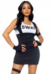 Kort sexy SWAT kostuum voor vrouwen