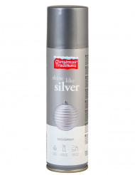 Zilverkleurige kerstmis spray 100 ml