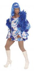 Blauw travestiet pak voor heren