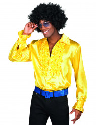 Geel disco overhemd voor mannen