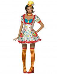 Clown pak met stippen voor dames