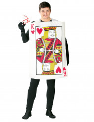Hartenkoning kaarten kostuum voor volwassenen