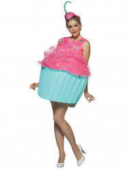 Sweet cupcake kostuum in turquoise en blauw voor vrouwen