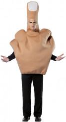 Middelvinger outfit voor volwassenen