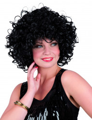 Korte zwarte krullen pruik voor vrouwen