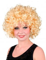 Blonde gekrulde pruik