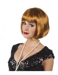 Licht bruine cabaret pruik voor vrouwen