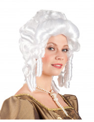 Witte barok pruik vrouwen