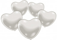 10 witte hartvormige ballonnen