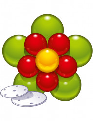 Decoratieset bloem