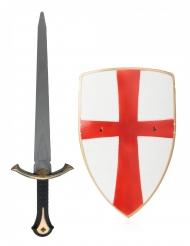Ridder set met schild en zwaard voor volwassenen
