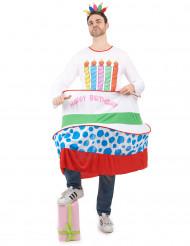 Verjaardagstaart kostuum voor mannen
