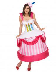 Verjaardagstaart kostuum voor vrouwen